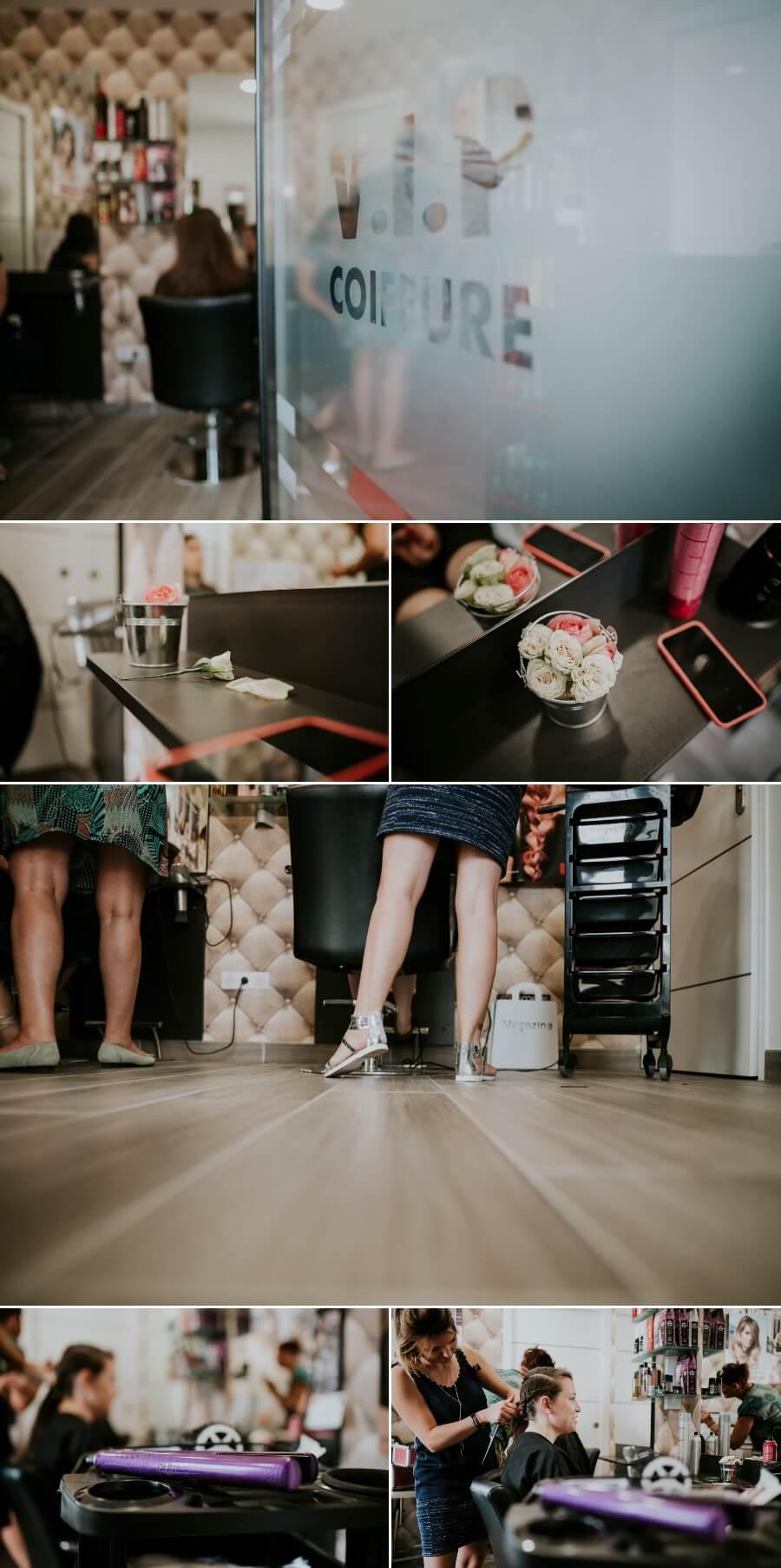 coiffure et préparatifs de la mariée reportage photos de mariage Chartres Eure et Loir