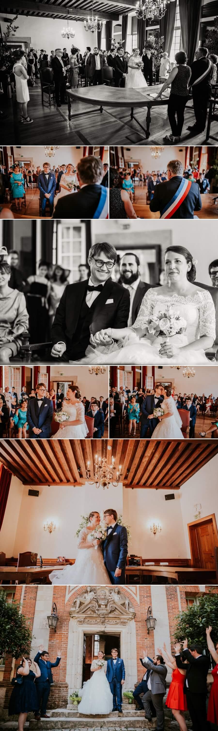reportage photo de mariage mairie de Chartres Eure et Loir