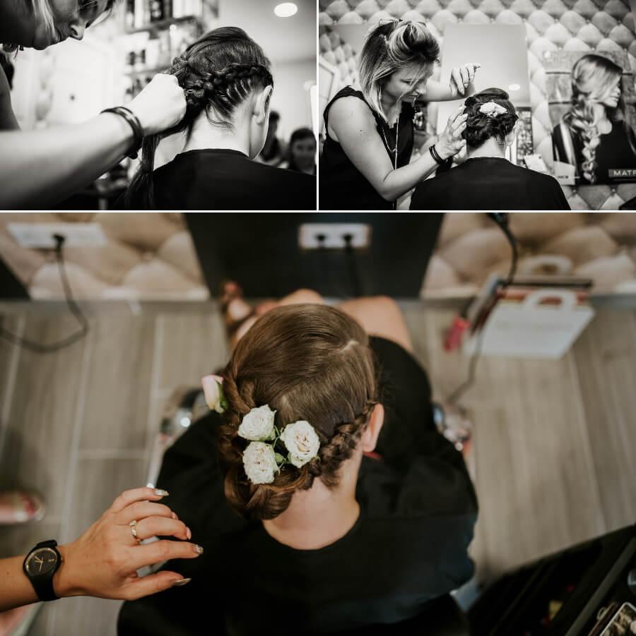 coiffure de la mariée reportage photos de mariage Chartres Eure et Loir