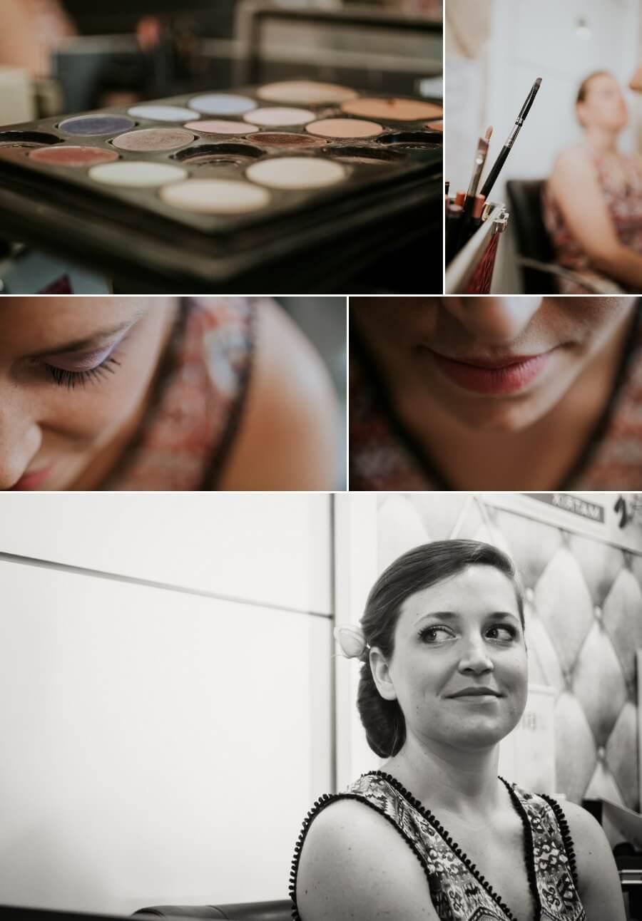 maquillage de la mariée reportage photos de mariage Chartres Eure et Loir