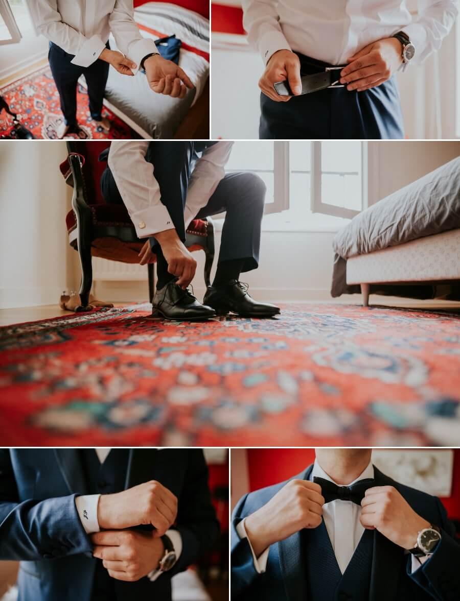 préparatifs du marié reportage photos de mariage Chartres Eure et Loir