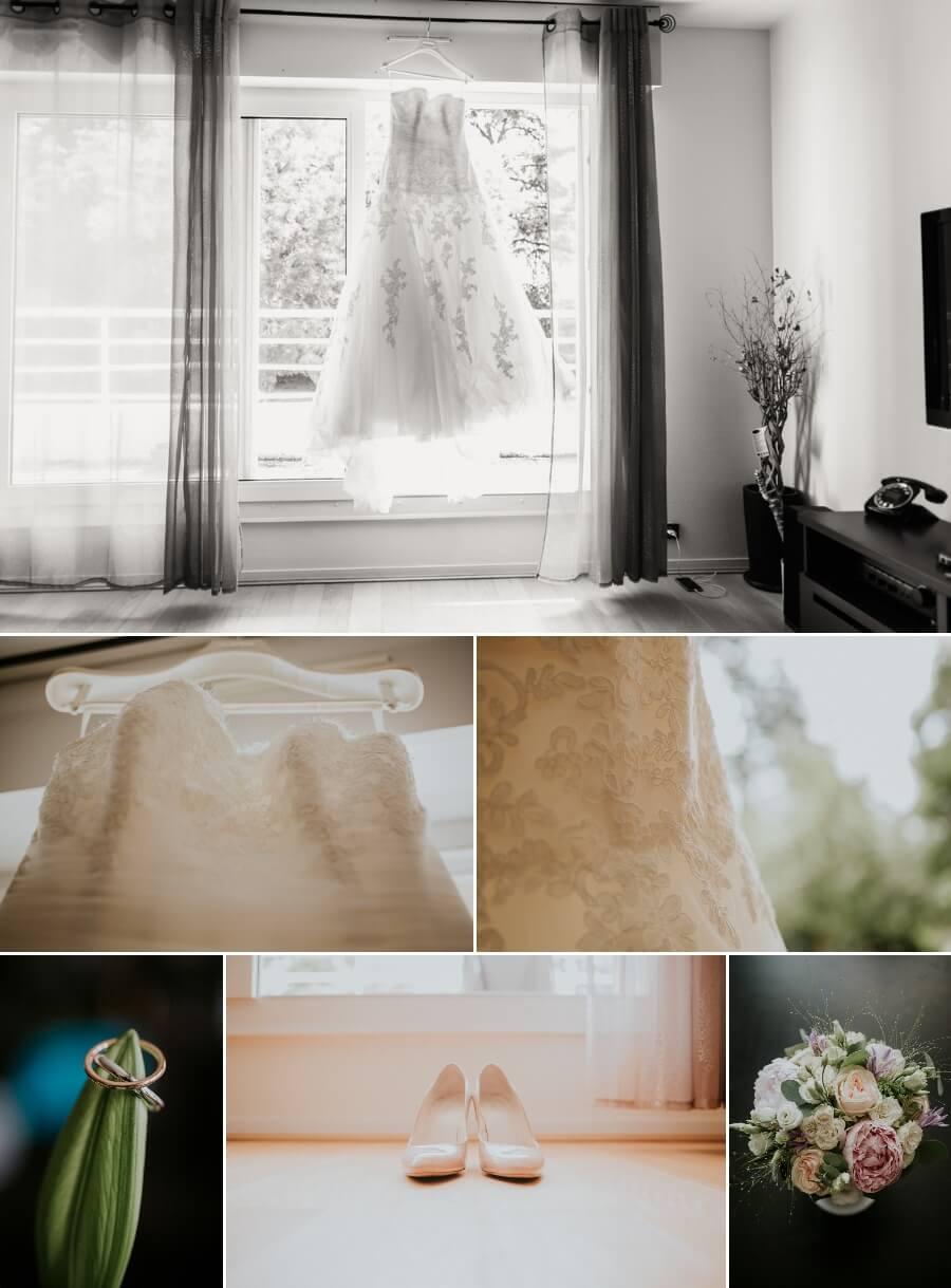 robe de mariée et alliances reportage photos de mariage Chartres