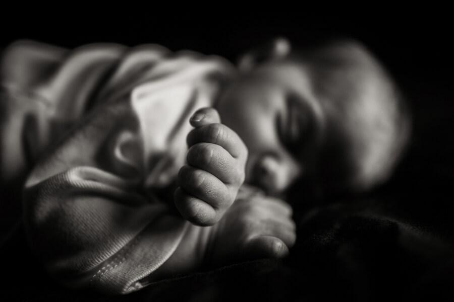 photos de détails nouveau-nés noir et blanc
