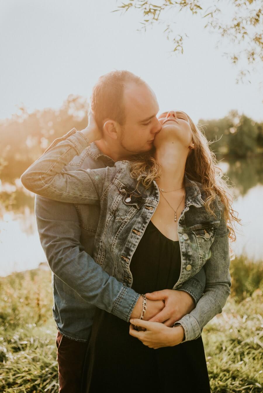 séance photo engagement couple nature eure et loir